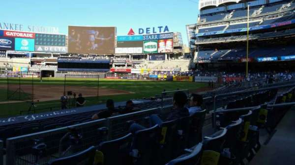 Yankee Stadium, section: 117A, row: 3, seat: 9