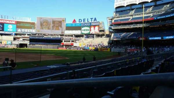 Yankee Stadium, section: 117A, row: 3, seat: 1