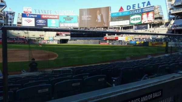Yankee Stadium, section: 115, row: 1, seat: 1