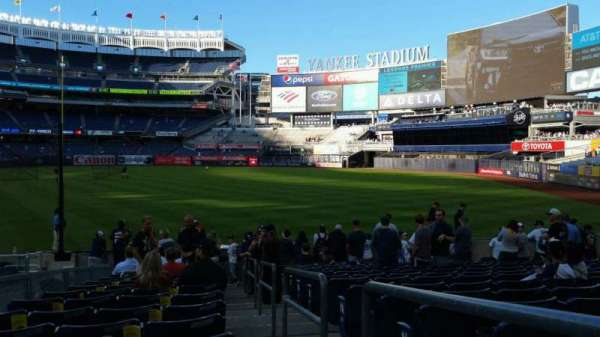 Yankee Stadium, section: 111, row: 15, seat: 1