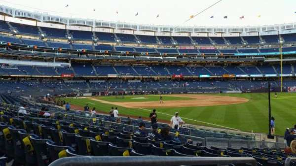 Yankee Stadium, section: 110, row: 17, seat: 15