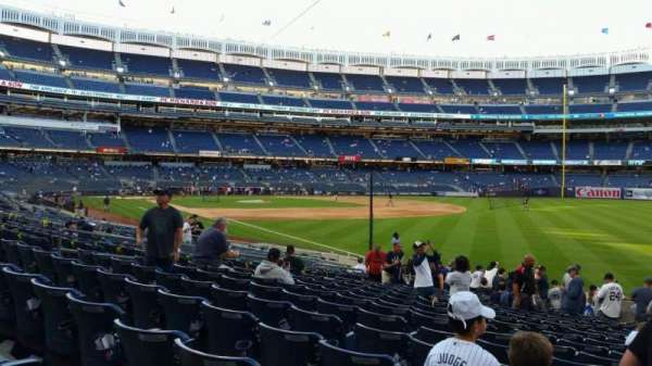 Yankee Stadium, section: 110, row: 17, seat: 1