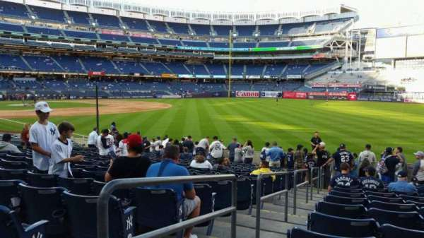 Yankee Stadium, section: 109, row: 15, seat: 17