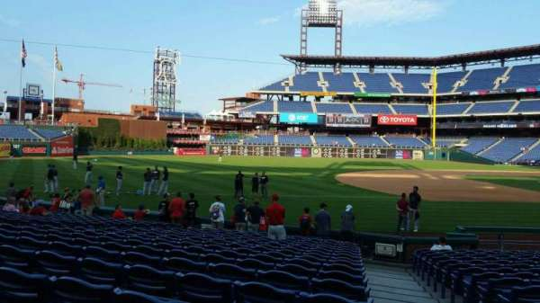 Citizens Bank Park, section: 134, row: 17, seat: 1
