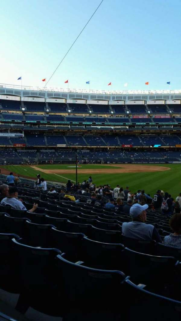 Yankee Stadium, section: 109, row: 15, seat: 1