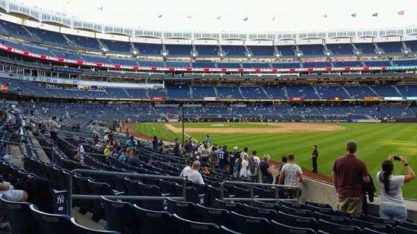 Yankee Stadium, section: 108, row: 9, seat: 6