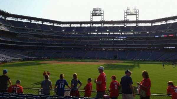 Citizens Bank Park, section: 104, row: 8, seat: 1