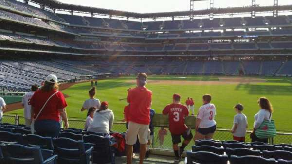 Citizens Bank Park, section: 104, row: 8, seat: 22
