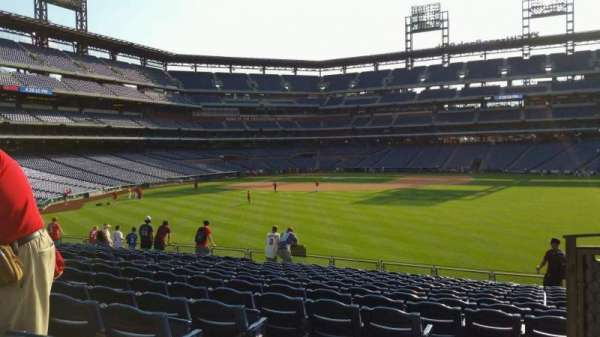 Citizens Bank Park, section: 102, row: 16, seat: 8