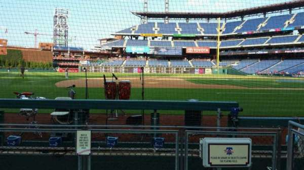 Citizens Bank Park, section: 132, row: 1, seat: 1