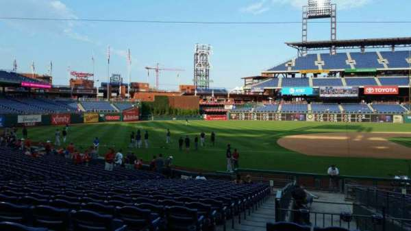 Citizens Bank Park, section: 132, row: 19, seat: 18
