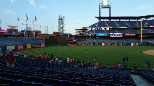 Citizens Bank Park, section: 136, row: 27, seat: 1
