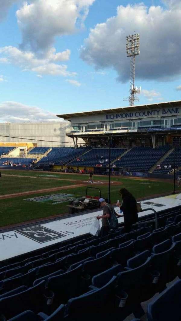 Richmond County Bank Ballpark, section: 5, row: K, seat: 11