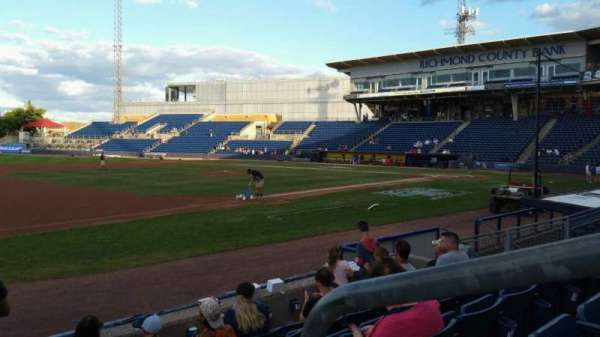 Richmond County Bank Ballpark, section: 4, row: F, seat: 1