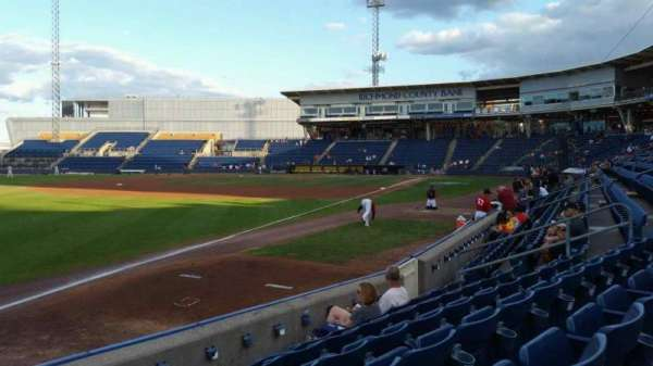 Richmond County Bank Ballpark, section: 2, row: F, seat: 18