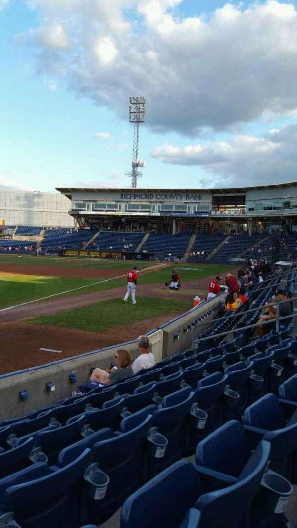 Richmond County Bank Ballpark, section: 2, row: F, seat: 18