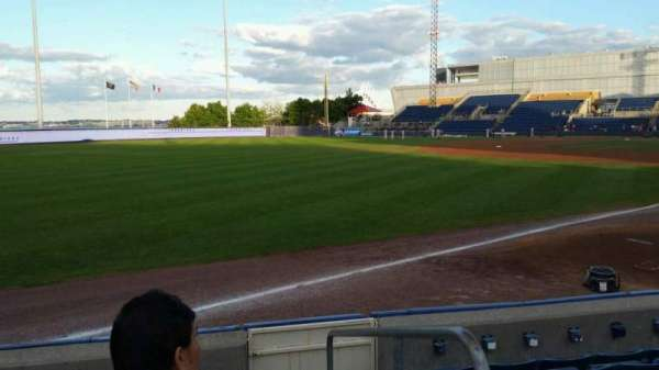 Richmond County Bank Ballpark, section: 1, row: F, seat: 1