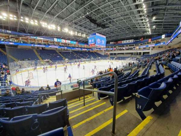 Webster Bank Arena, section: 102, row: J, seat: 1