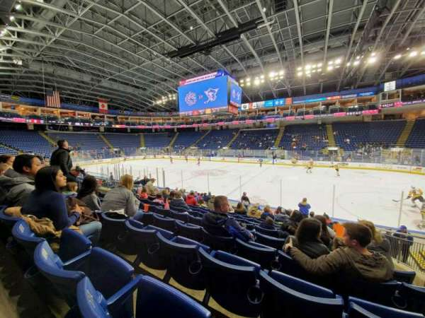 Webster Bank Arena, section: 106, row: J, seat: 10