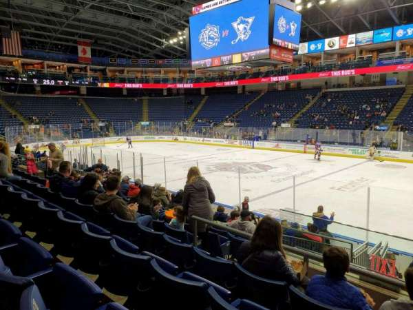 Webster Bank Arena, section: 106, row: J, seat: 1