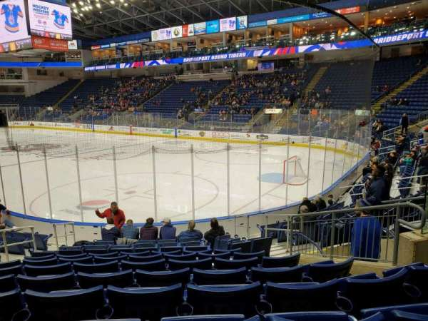 Webster Bank Arena, section: 118, row: H, seat: 8