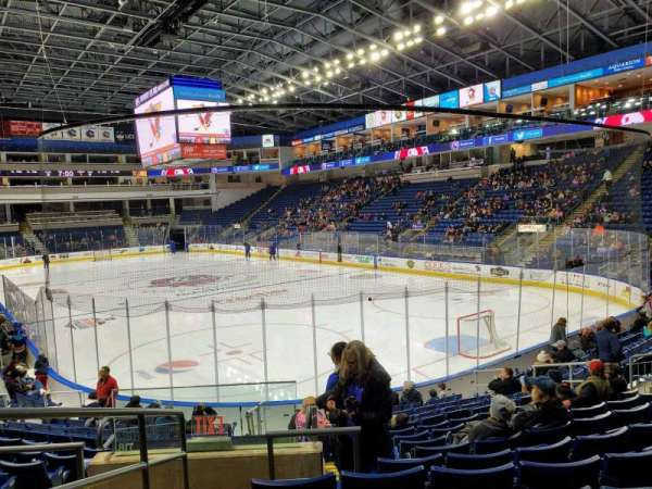 Webster Bank Arena, section: 119, row: K, seat: 19