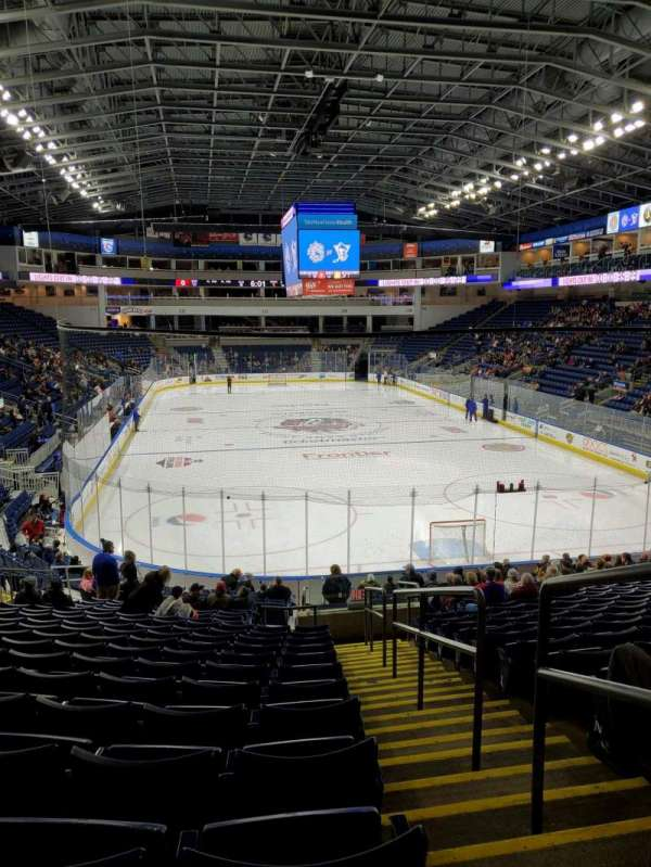 Webster Bank Arena, section: 119, row: S, seat: 1