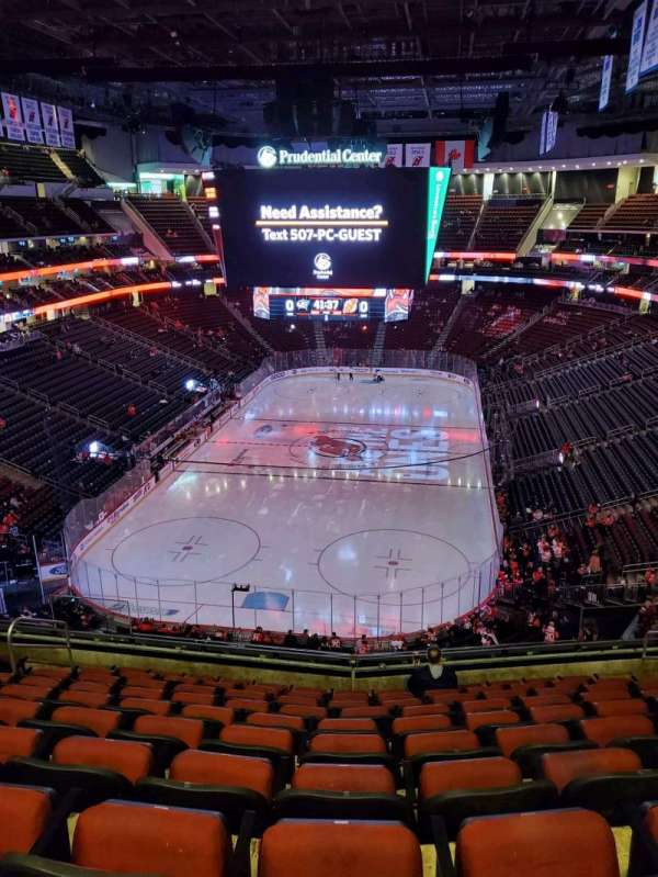 Prudential Center, section: 121, row: 10, seat: 9