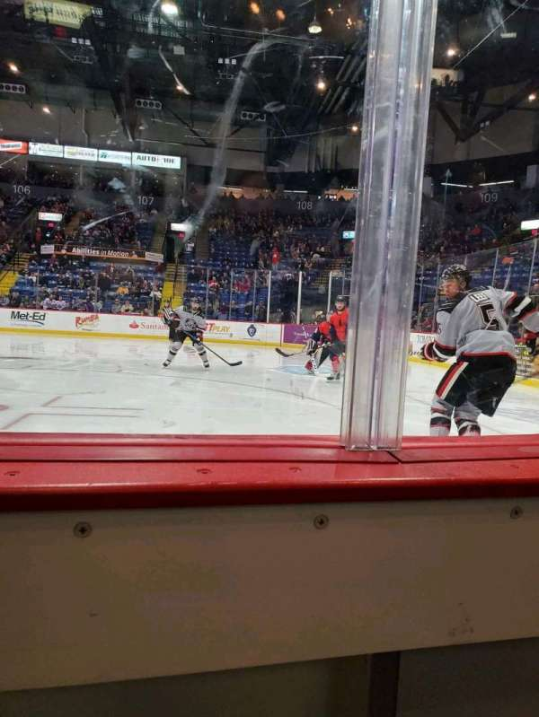 Santander Arena, section: 114, row: A, seat: 6