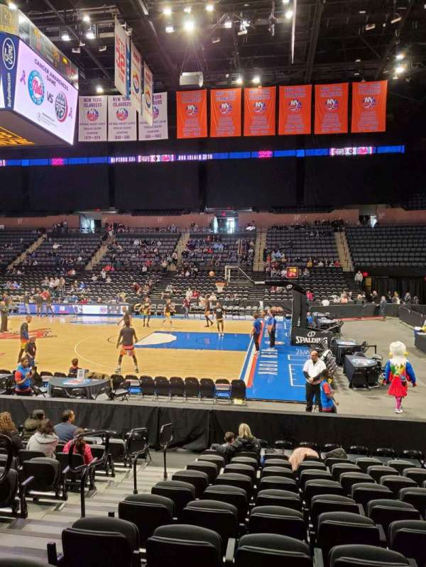 Nassau Veterans Memorial Coliseum, section: 101, row: 1, seat: 12