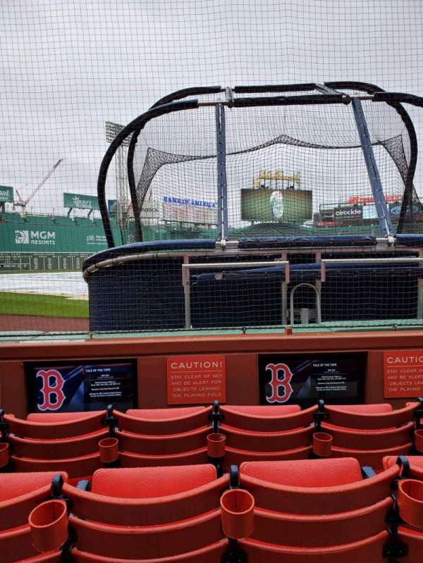 Fenway Park, section: Field Box 45, row: A, seat: 3