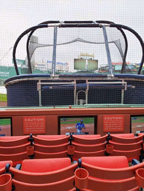 Fenway Park, section: Field Box 45, row: A, seat: 2