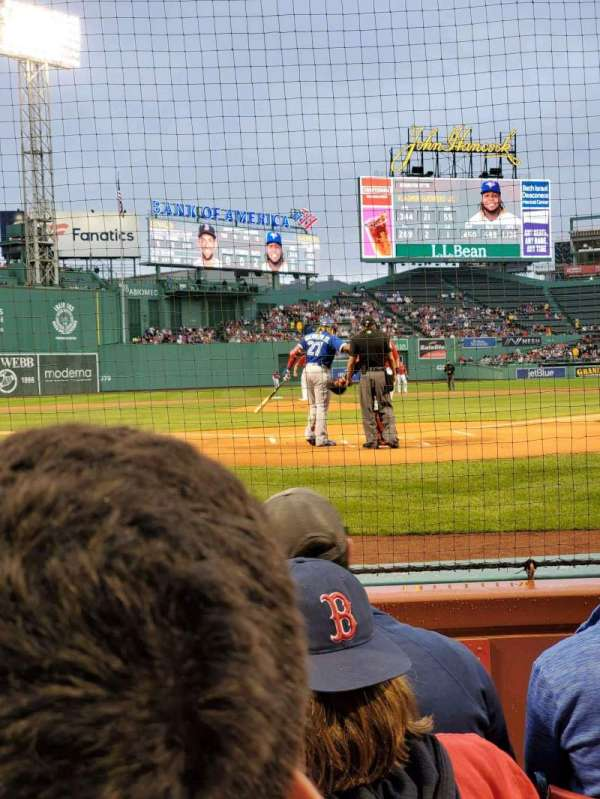 Fenway Park, section: Field Box 45, row: A, seat: 4