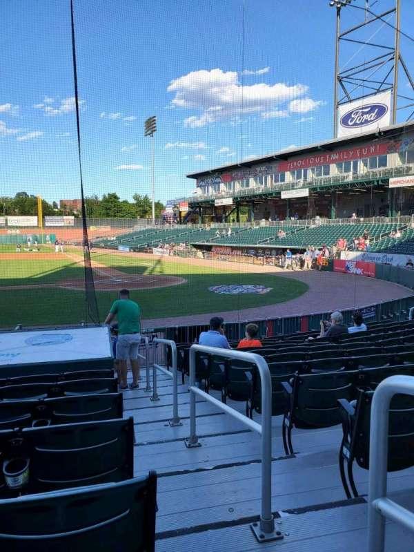 Northeast Delta Dental Stadium, section: 106, row: M, seat: 1