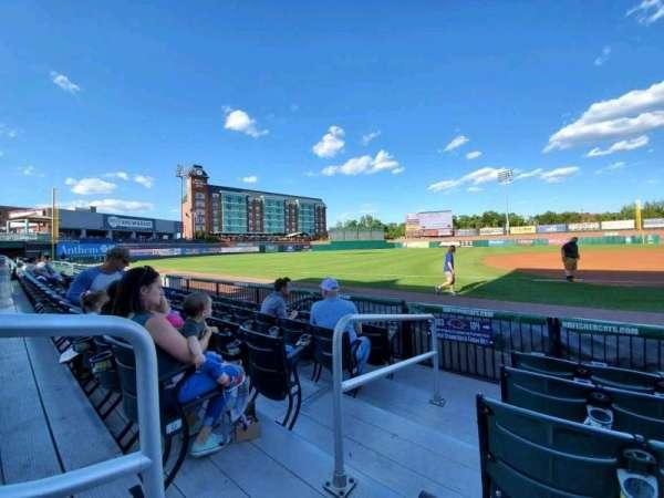Northeast Delta Dental Stadium, section: 104, row: E, seat: 27