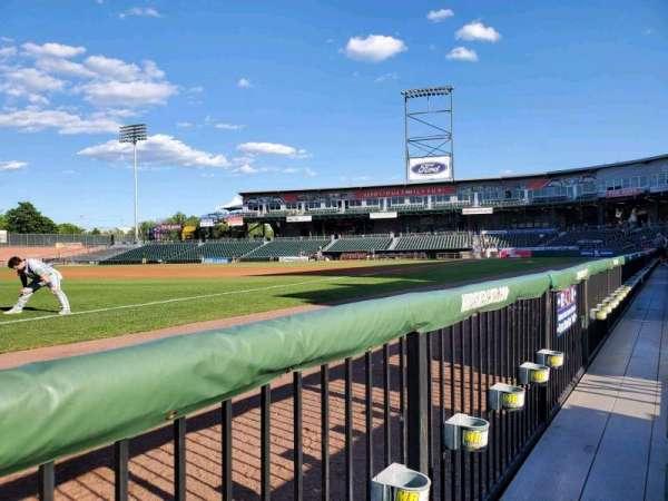 Northeast Delta Dental Stadium, section: 102, row: A, seat: 8