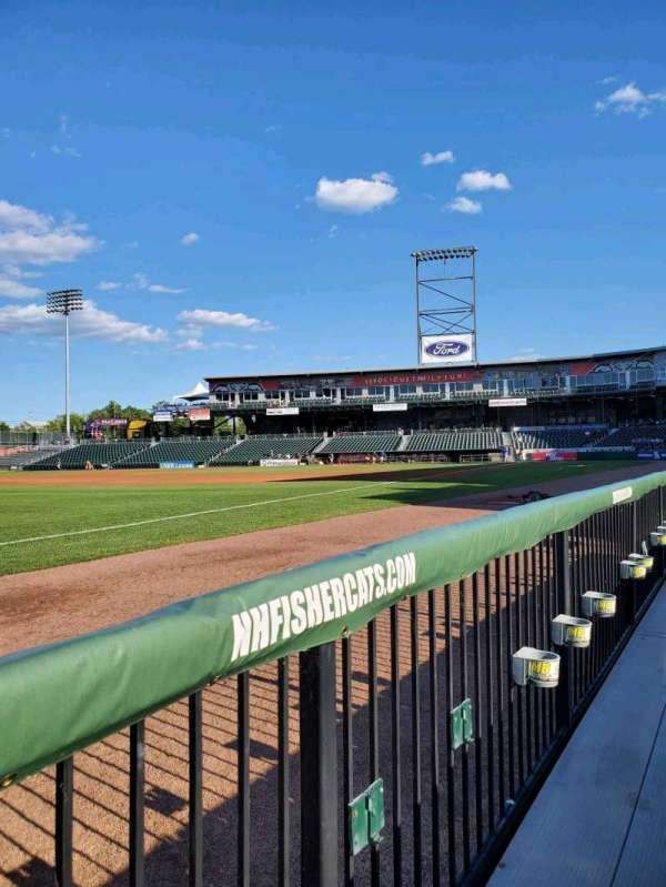 Northeast Delta Dental Stadium, section: 102, row: A, seat: 18