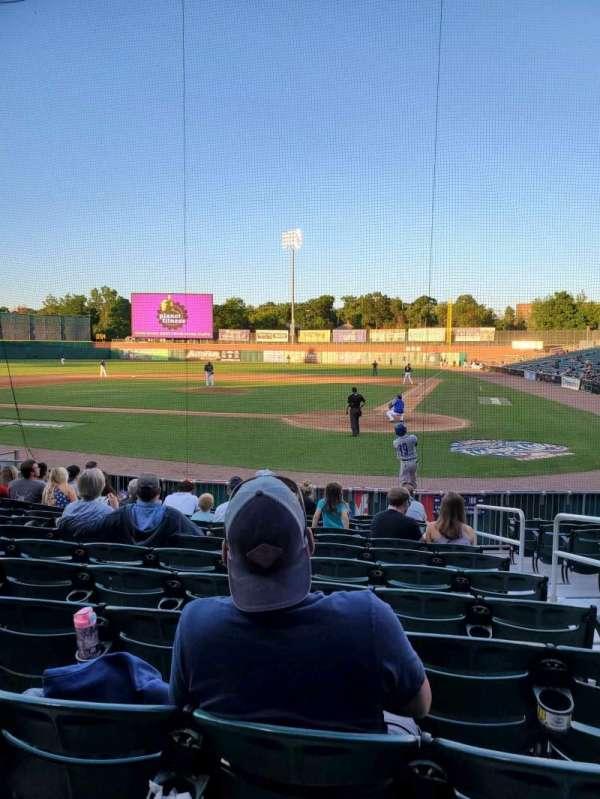 Northeast Delta Dental Stadium, section: 107, row: M, seat: 4