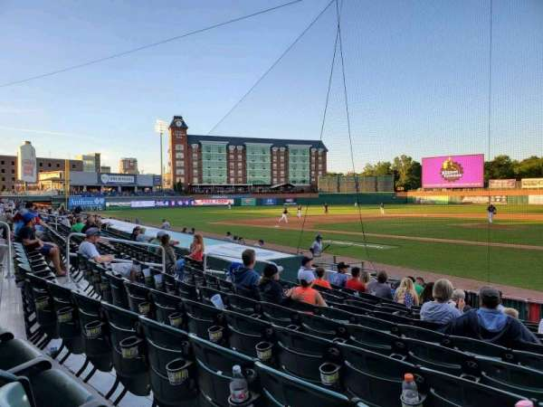 Northeast Delta Dental Stadium, section: 107, row: M, seat: 5
