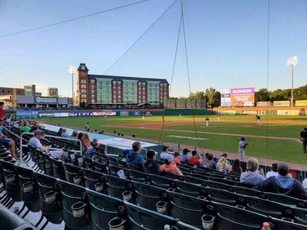 Northeast Delta Dental Stadium, section: 107, row: M, seat: 6