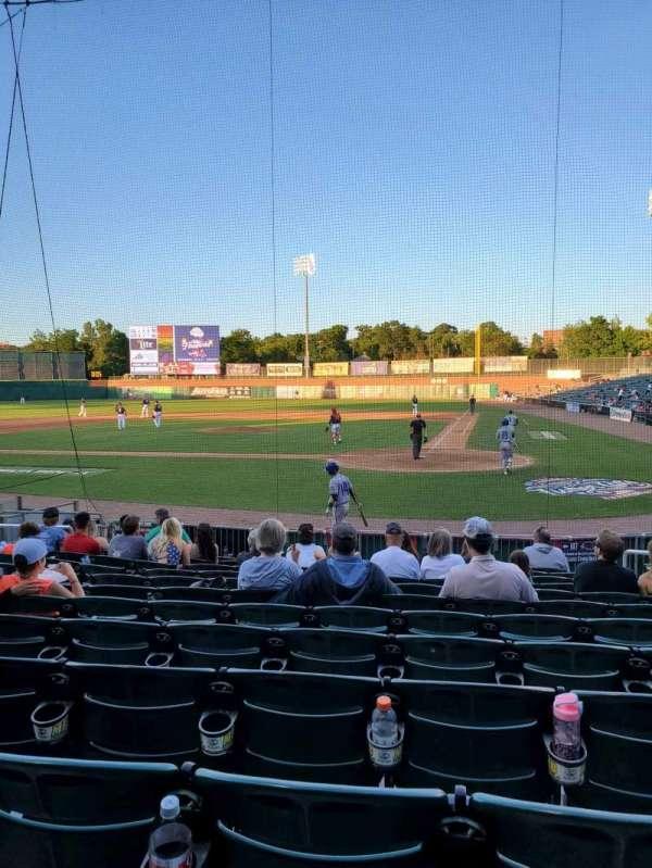 Northeast Delta Dental Stadium, section: 107, row: M, seat: 7