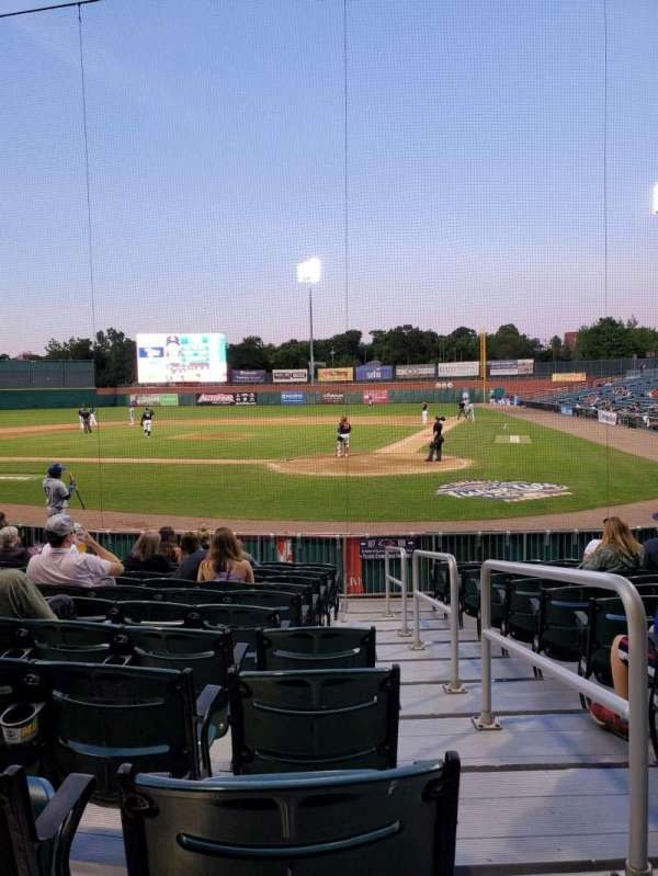 Northeast Delta Dental Stadium, section: 107, row: M, seat: 1