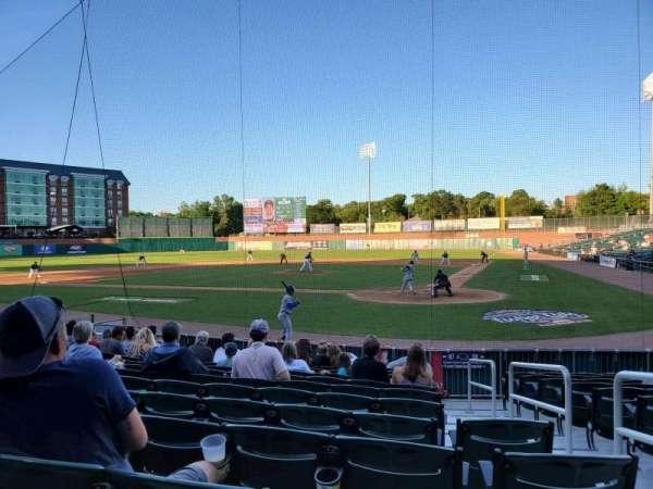Northeast Delta Dental Stadium, section: 107, row: M, seat: 2