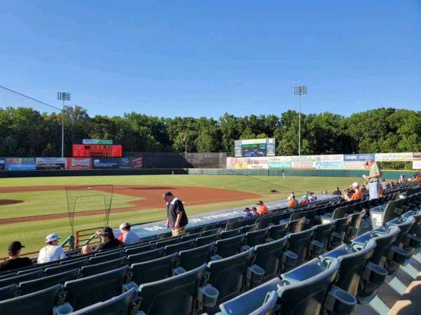 Prince George's Stadium, section: 109, row: M, seat: 1