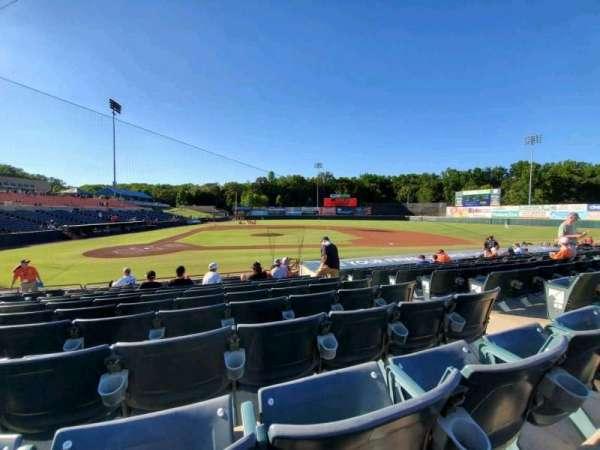 Prince George's Stadium, section: 109, row: M, seat: 6