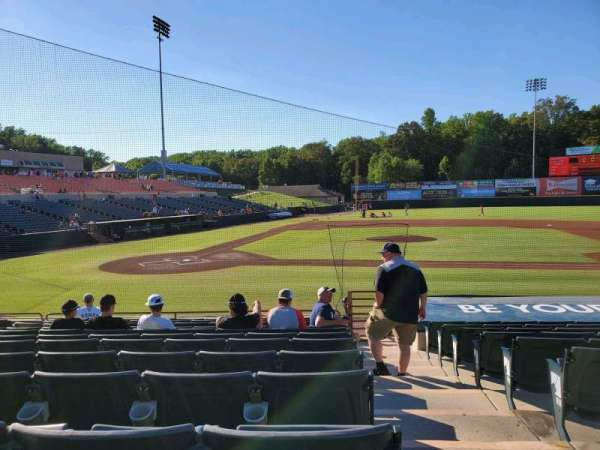 Prince George's Stadium, section: 109, row: M, seat: 10