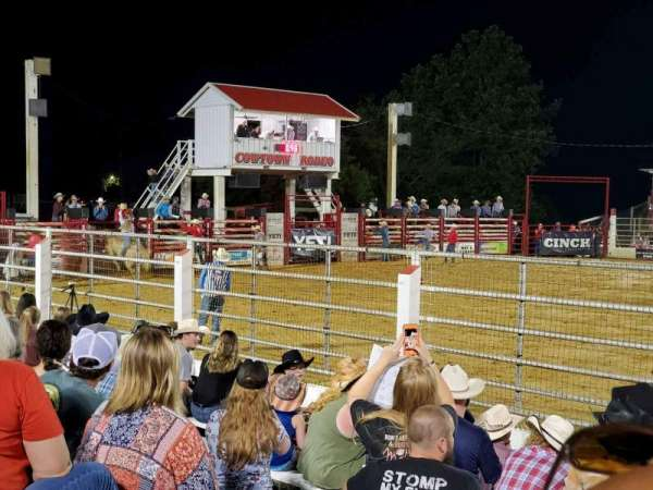 Cowtown Rodeo, section: General Admission, row: 9, seat: North Bleachers