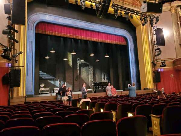 St. James Theatre, section: Orchestra L, row: M, seat: 9