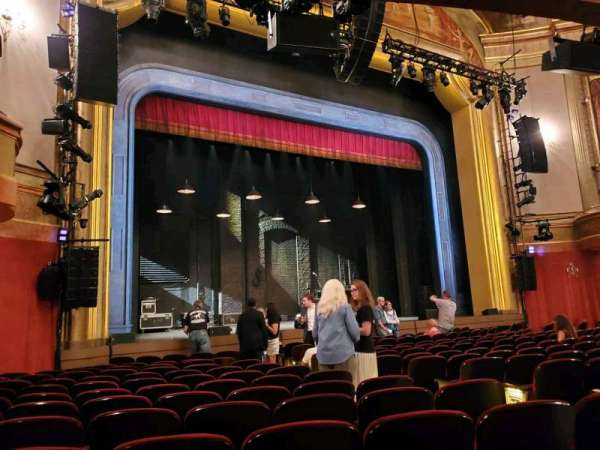 St. James Theatre, section: Orchestra L, row: M, seat: 13