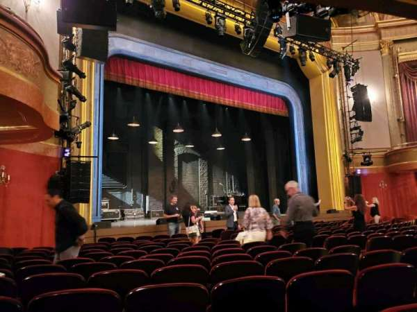 St. James Theatre, section: Orchestra L, row: M, seat: 19
